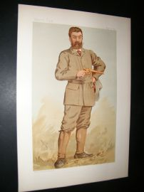 Vanity Fair Print 1893 Walter Winans, Game Hunter